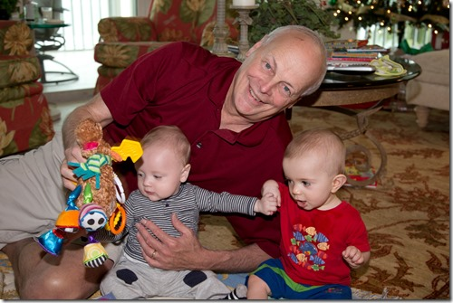 Wrestling with the grandsons