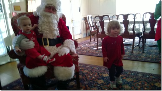 Santa at the mansion