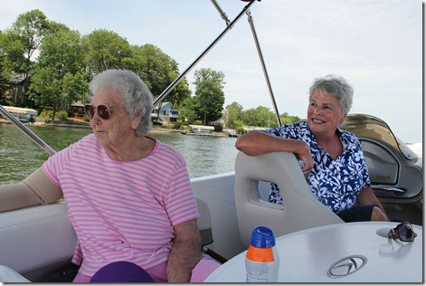Grandma and Peggy in the Boat